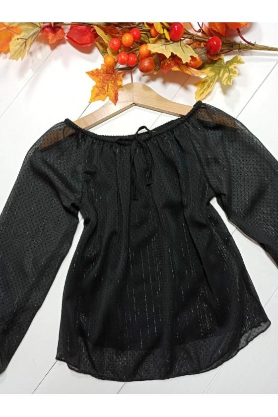 Kiki blouse droplets black