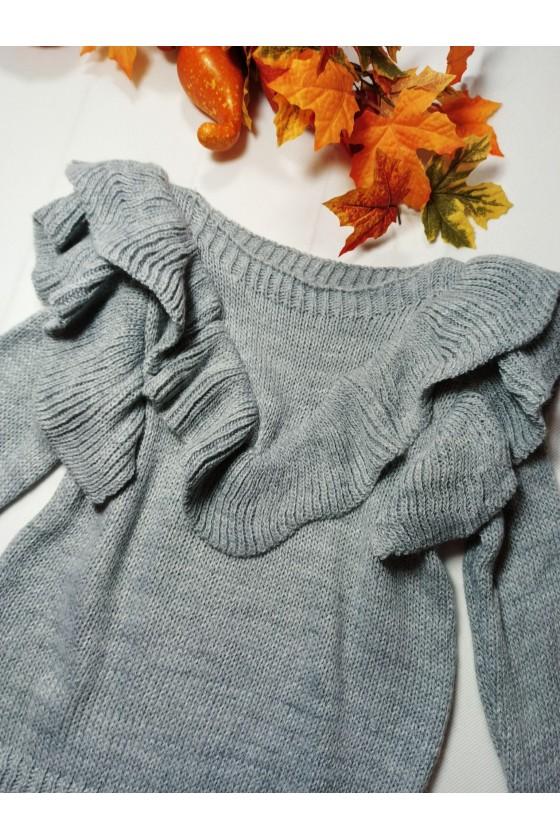Sweterek dla dziewczynki Marii szary