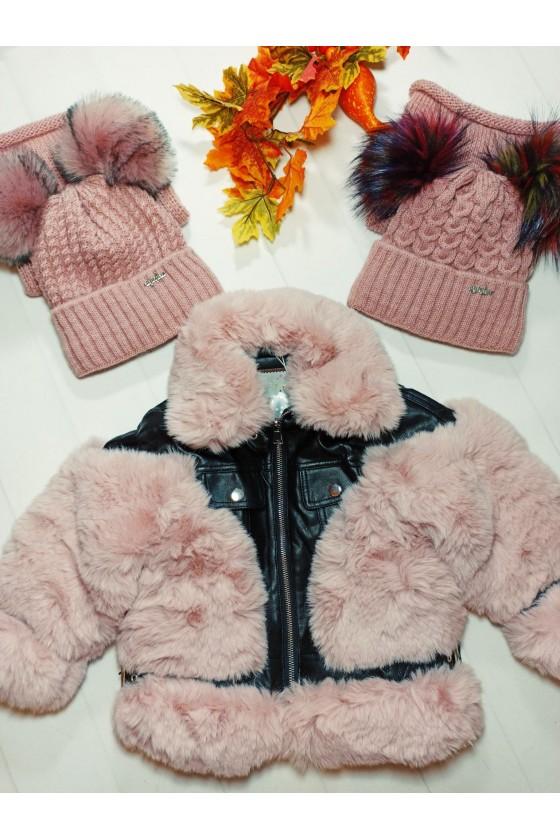 kurtka zima futerko miśiek odzież dziecięca sówka