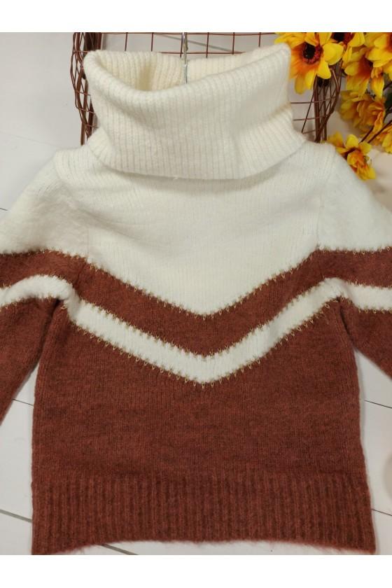 Sweter dla dziewczynki Sonia  czekoladka