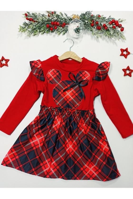 Sukienka dla dziewczynki Kimi czerwona