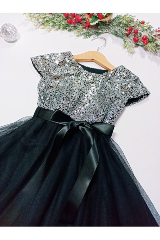 Sukienka dla dziewczynki Paloma srebna
