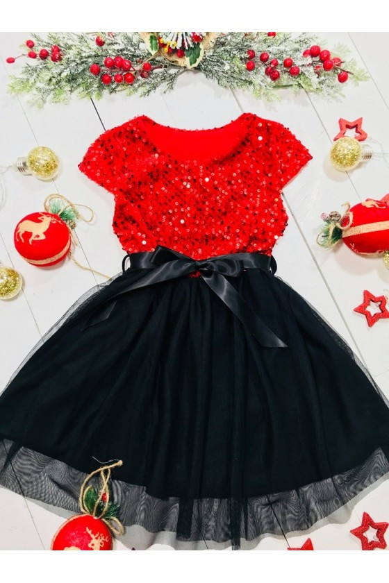 sukienka świateczna boże narodzenie elegancka odzież dziecięca sówka