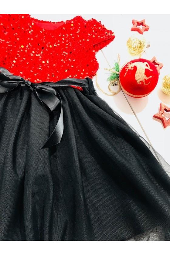 Sukienka dla dziewczynki Paloma czerwona