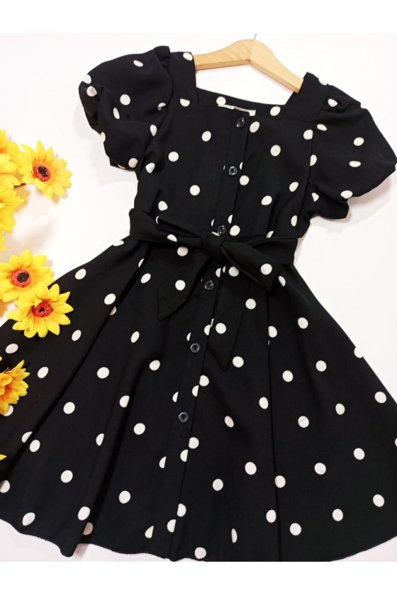 Diana black pea dress