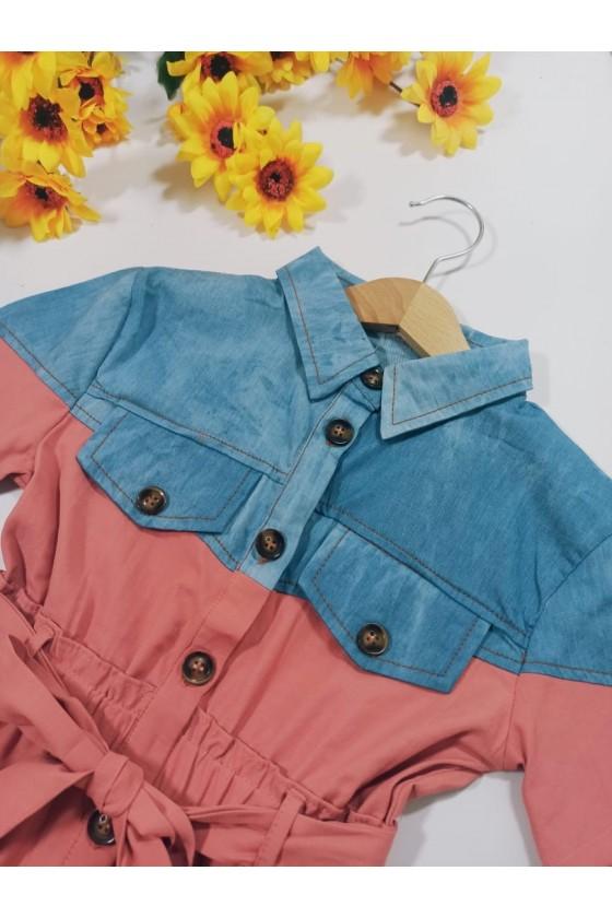 Sukienka Neli  jeans  puderek
