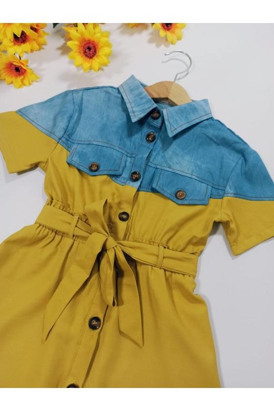 Sukienka Neli  jeans  miodzik