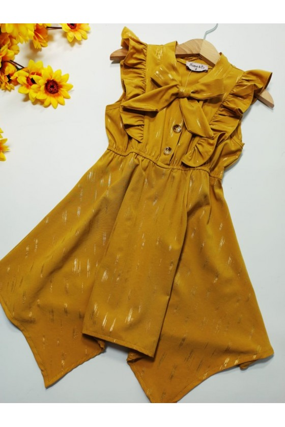 Emily dress asymmetric honey