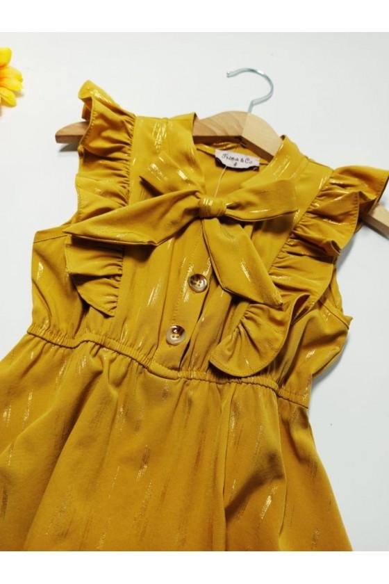 Emily dress asymmetric honey