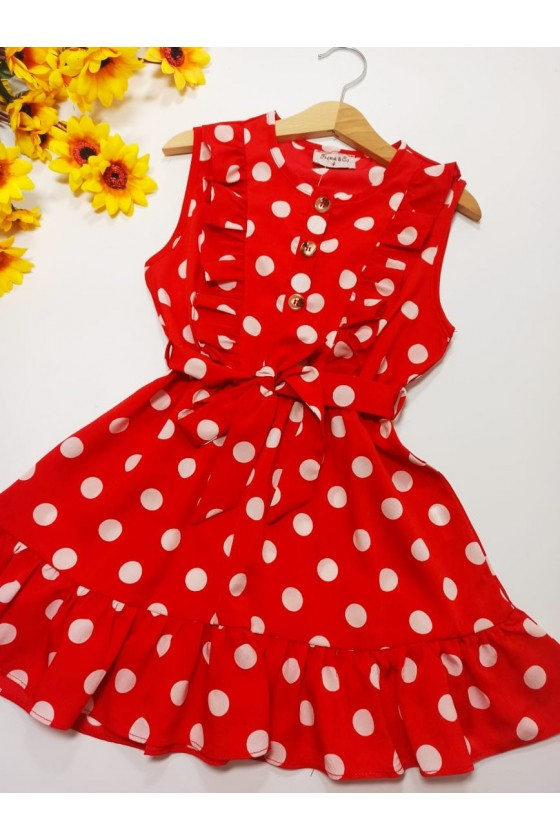 Dress Sara frills red