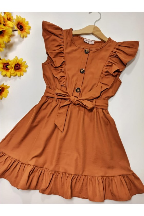 Bibi brown dress