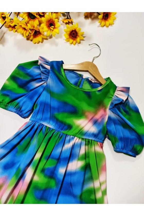 Tie Dye blue dress