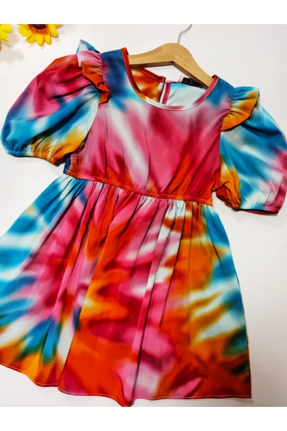 Tie Dye pink dress