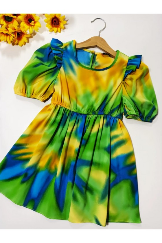 Tie Dye green dress