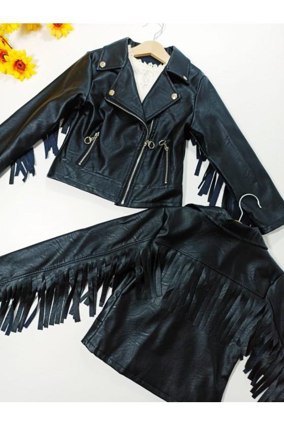 Ramonese Gigy fringe black