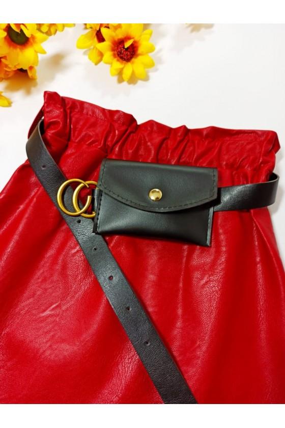Skirt Nina red strap with handbag