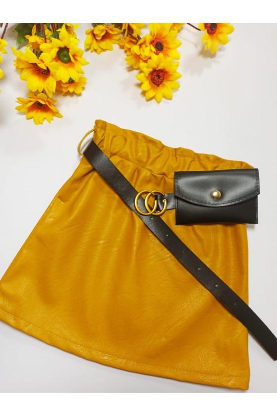 Skirt Nina honey belt with...