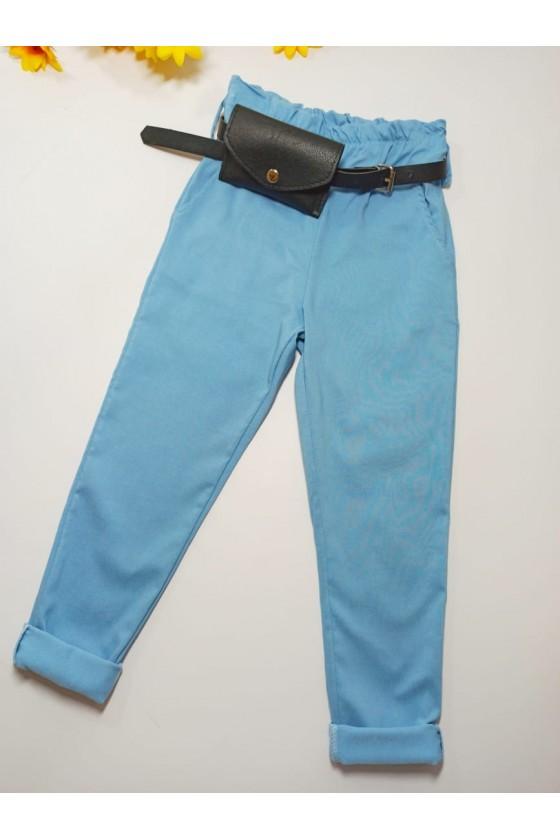 Gabi pants strap/baby blue bag