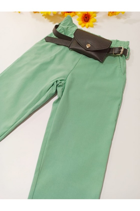 Gabi pants strap/mint bag