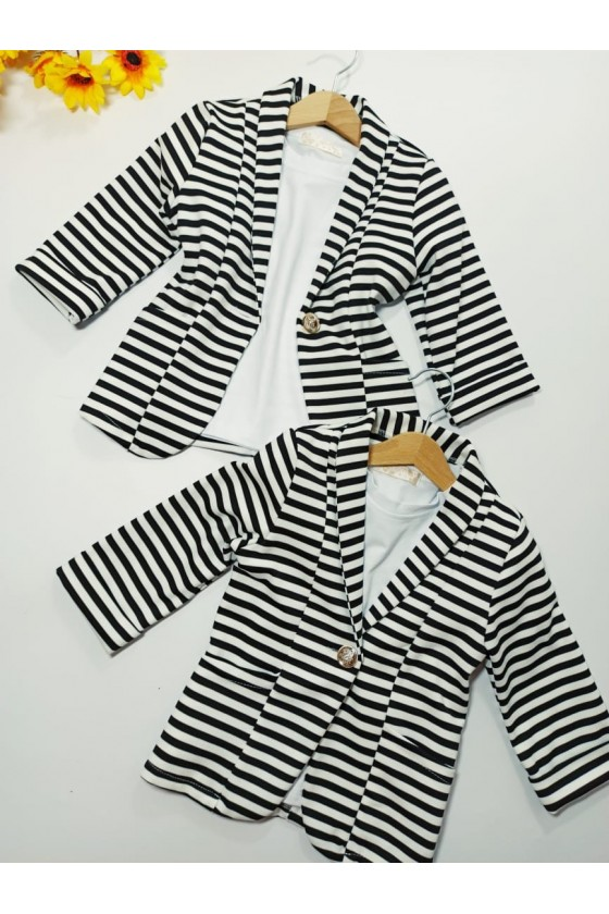 Jacket Moni striped black ,...