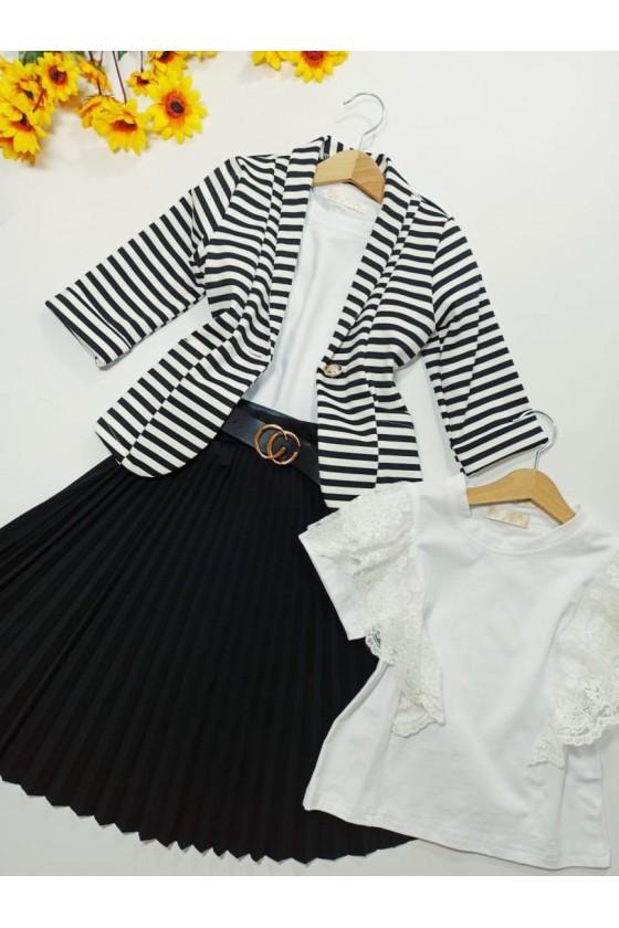 Spódniczka Katia Midi plisowana z paskiem black