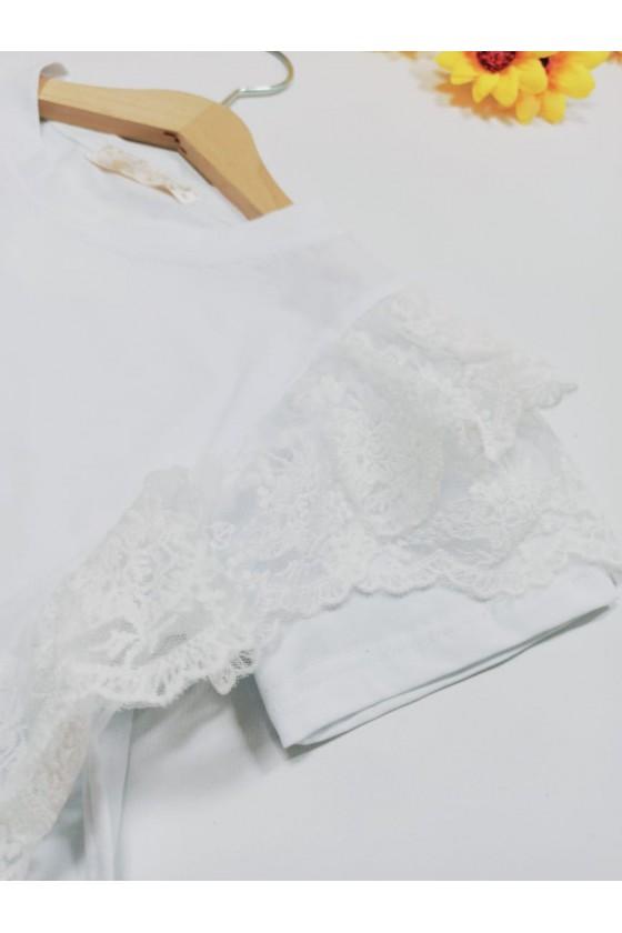 Fiona white lace T-shirt