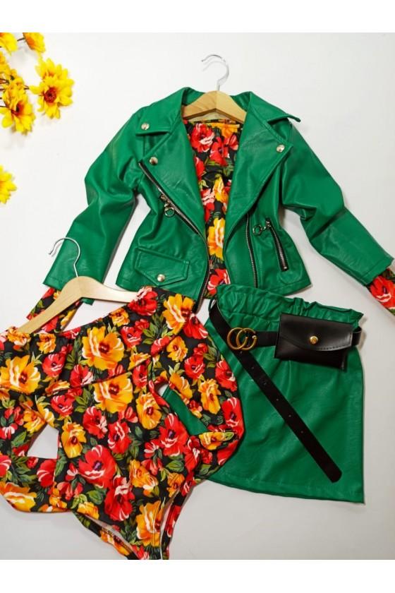 Nina skirt strap with green bag