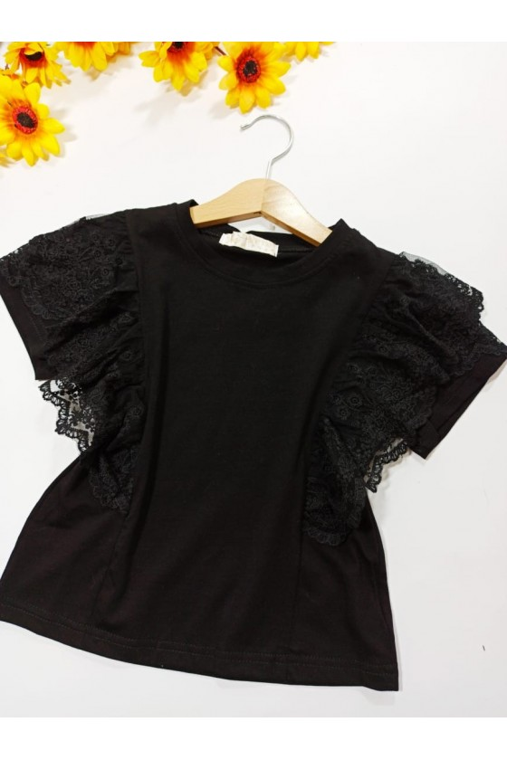 Fiona lace black T-shirt