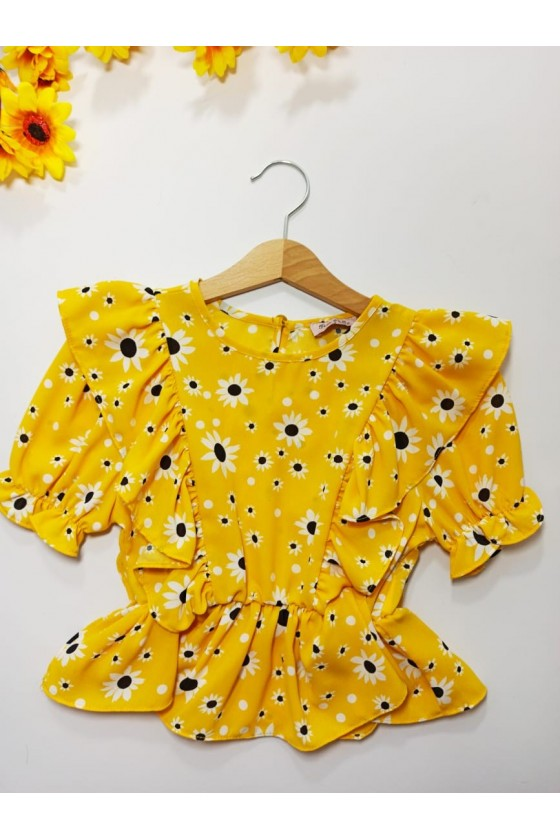 Blouse Daisy Yellow Flowers