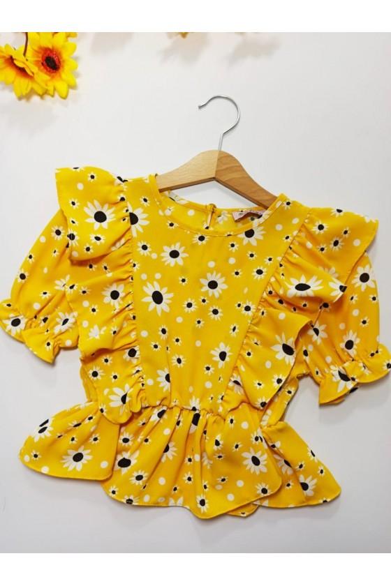 Bluzeczka Stokrotka kwiatki yellow