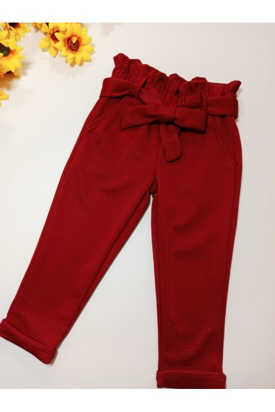 Spodnie Imelda bordo