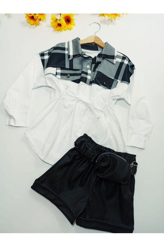 Moni black shorts + bag strap