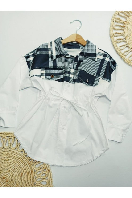 Lola white t-shirt-tunic