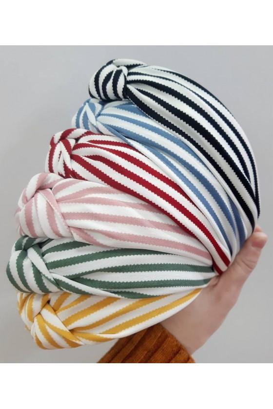 Band turban strips wide