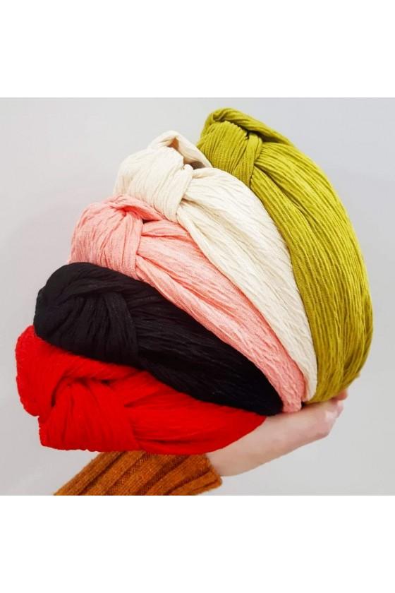 Ruffled cotton turban band
