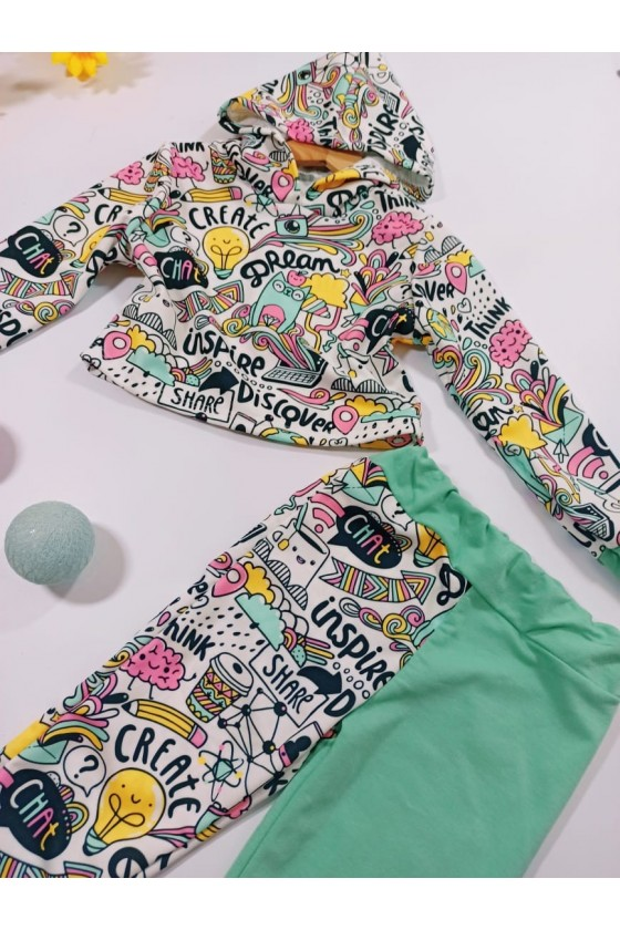 Inspire set sweatshirt and mint pants