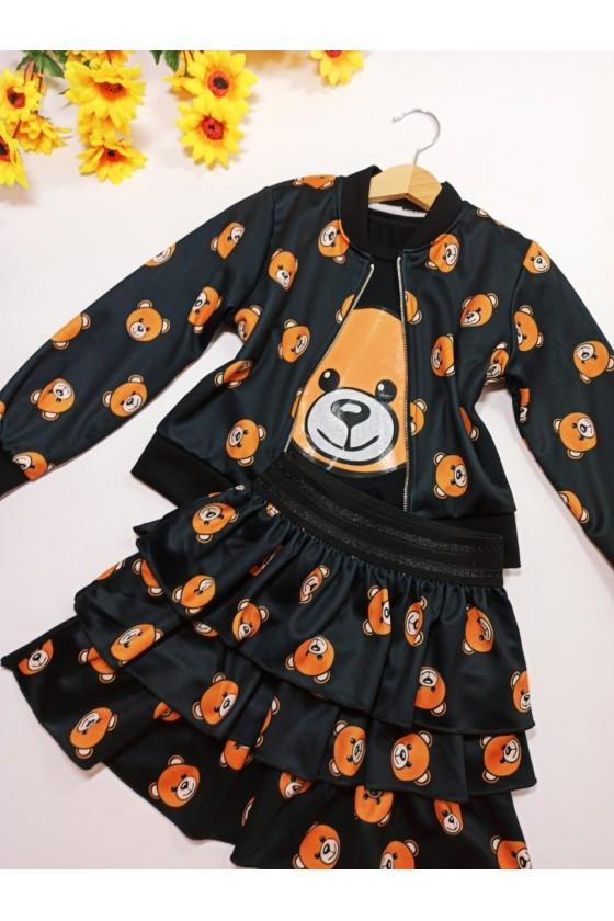 T-shirt Tośka teddy bear black