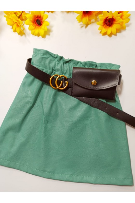 Skirt Nina mint strap with handbag