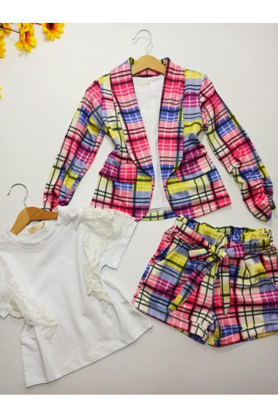 Set Celinka jacket and shorts pink