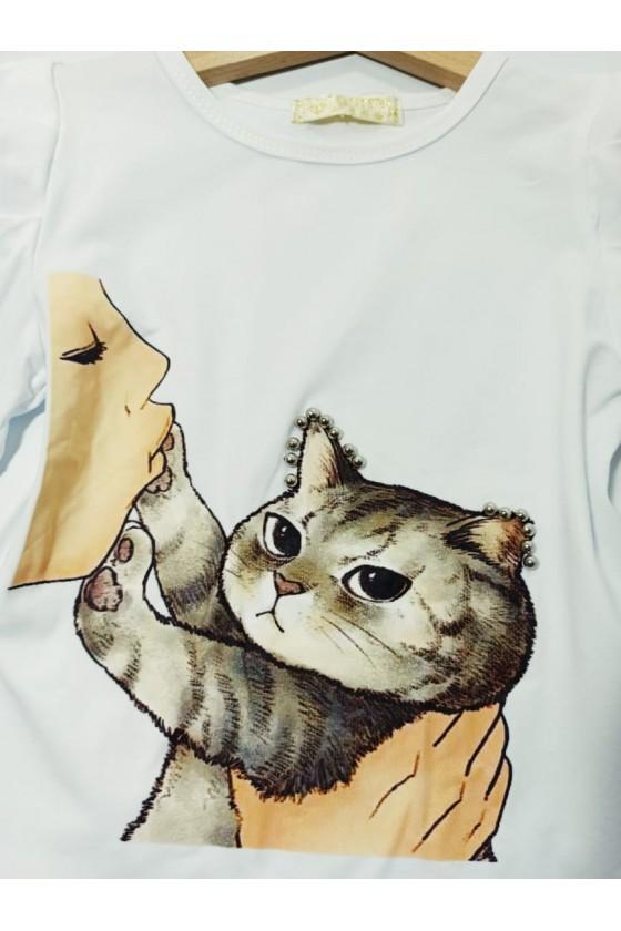 Zosia kitten white blouse