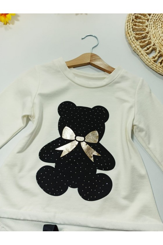 Blouse Nora teddy bears ecru