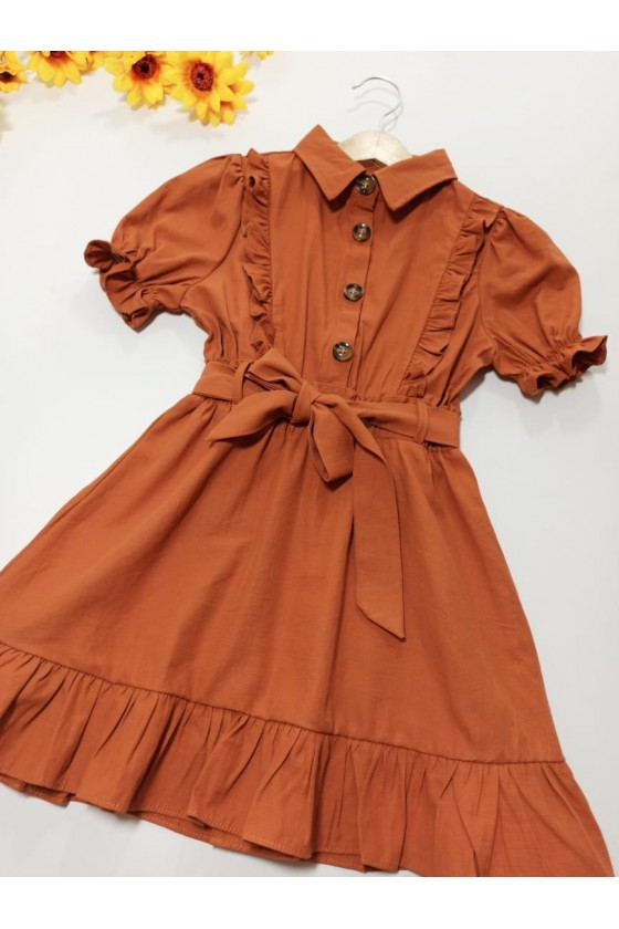 Dress Nyla collar brown