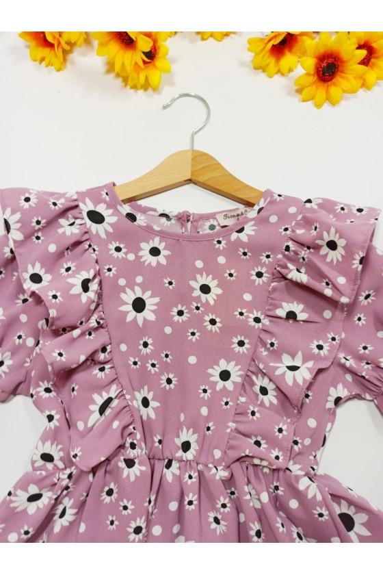 Bluzeczka Stokrotka kwiatki purple