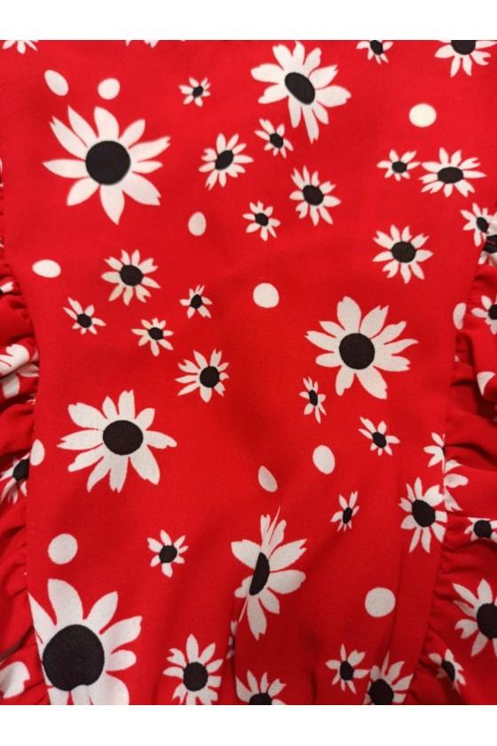 Bluzeczka Stokrotka kwiatki red