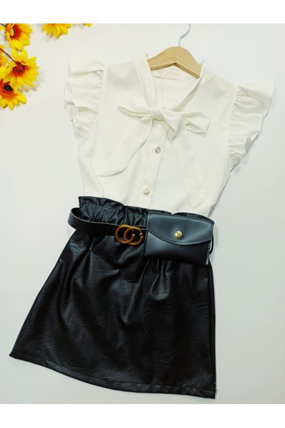 Nina black strap skirt with handbag