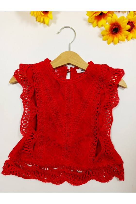 Tiffany red blouse
