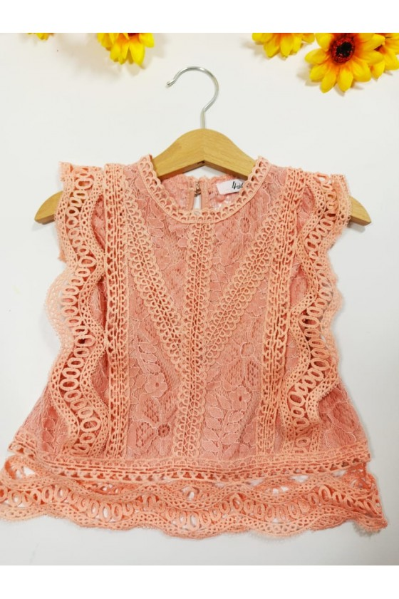 Tiffany powder blouse