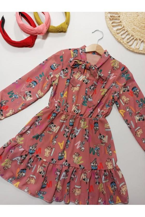 Sukienka Miki puderek