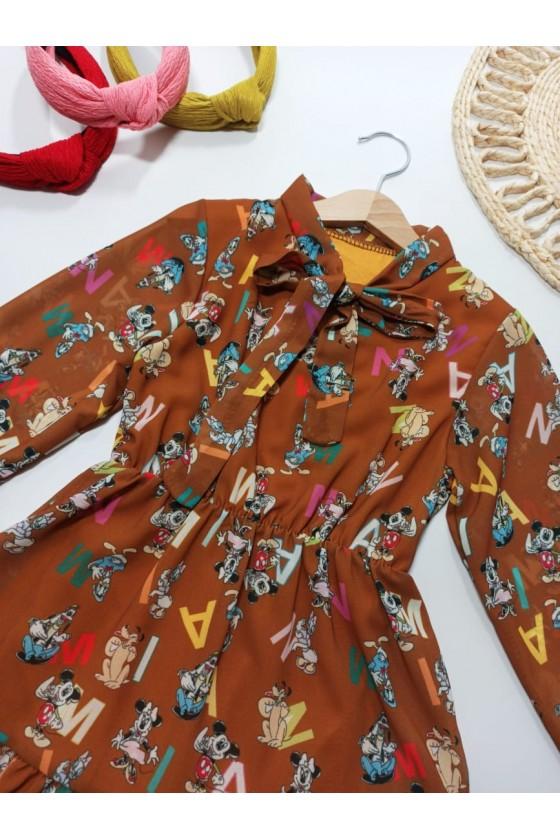 Sukienka Miki czekoladka