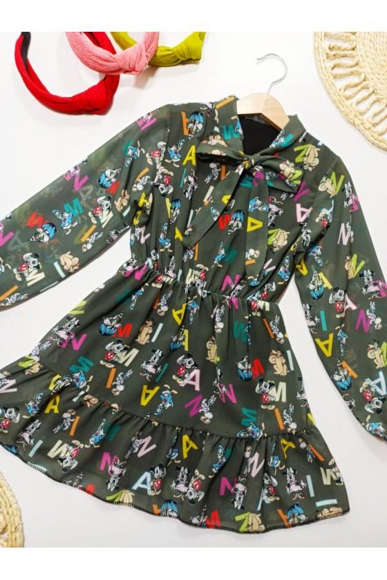 Miki Khaki Dress
